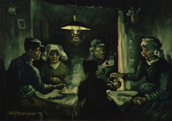 Van Gogh, Vincent: The Potato Eaters. Fine Art Print/Poster. Sizes: A4/A3/A2/A1 (001517)